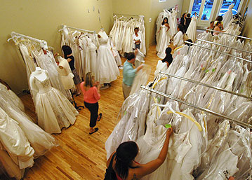 off-the-rack wedding dresses prices