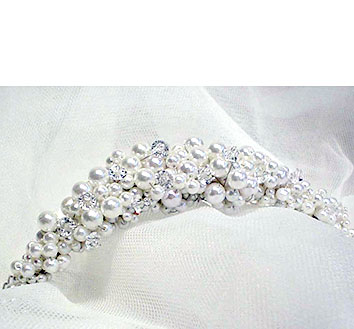 tiara - pearl headpiece - brides